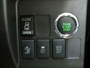 ダイハツ車のプッシュスタートボタン見本