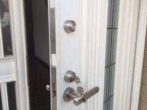 SHOWA製 玄関二ヶ所同一キー
