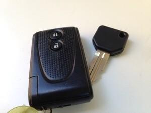 ダイハツ車で多くみられる鍵の形状
