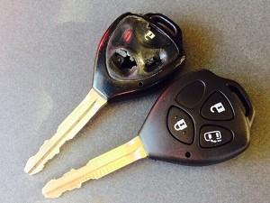 トヨタ車で多く見られるボタンの陥没